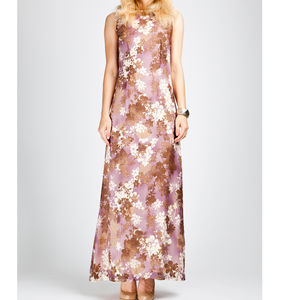 Floral Print Silk Maxi Dress - dresses