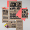 Retro Poster Wedding Table Number Or Name Cards