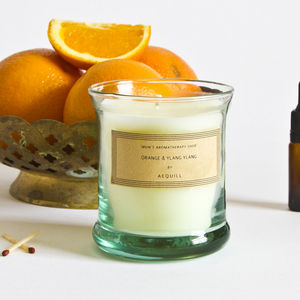 Calming Orange And Ylang Ylang Scented Candle - candles & home fragrance