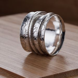 Wide Circles Spinner Ring - rings