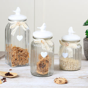 Country Style Bird Storage Jar Gift Set