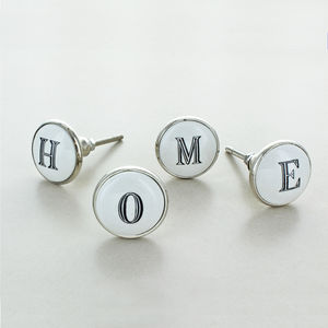 Ceramic Alphabet Or Number Letter Cupboard Drawer Knob - home accessories