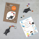 Make Your Own Halloween Skeleton Keyring Kit