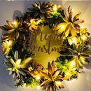 Merry Christmas Wreath Golden