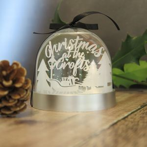 Personalised Papercut Snowglobe