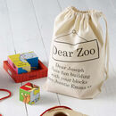 Personalised Dear Zoo Puzzle Blocks 18m+