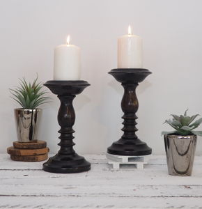 Wooden Candlestick - kitchen