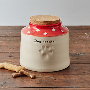 Handmade Personalised Dog Treat Jar - food, feeding & treats