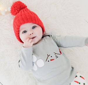 Snowman Organic Cotton Baby And Toddler T Shirt - clothing