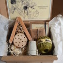 Purple Petals Miniature Bee House Garden Gift Box