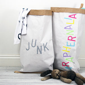 Personalised Monochrome / Pastel Storage Sack