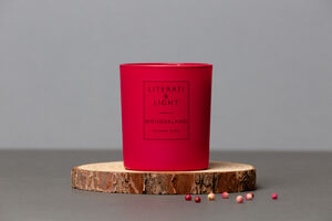 Wonderland Rose, Strawberry, Black Tea Literary Candle