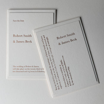 Literary Style Hot Foil Invitations