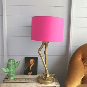 Flamingo Lamp Base In Antique Gold - dining room