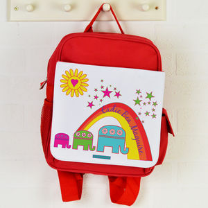 Personalised Backpack Elephants