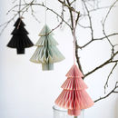 Set Of Three Paper Tree Or Paper Ball Decorations