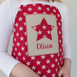 Handmade Personalised Children's Little Star Apron - kitchen