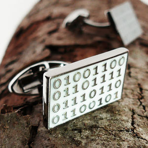 Binary Code 'Love' Cufflinks - cufflinks