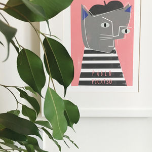 'Pablo Picatso' Cat Print - pet-lover