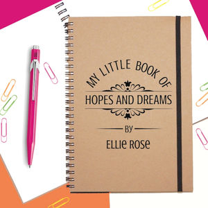 'Hopes And Dreams' Personalised Notebook