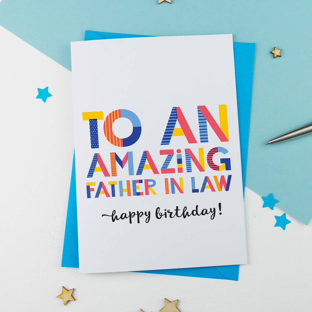 Amazing Father In Law Personalised Card By A Is For Alphabet