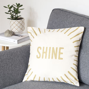 Shine Gold Cushion Cover - soft furnishings & accessories