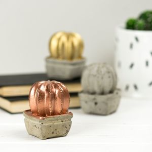 Mini Concrete Cactus - paperweights
