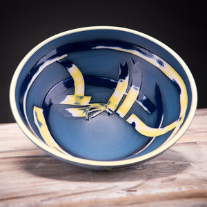 Handmade Low Ceramic Centre Bowl Coast Series - tableware