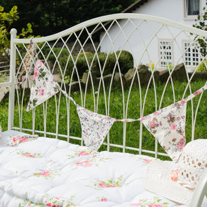 Summertime Cotton Floral Bunting - bunting & garlands
