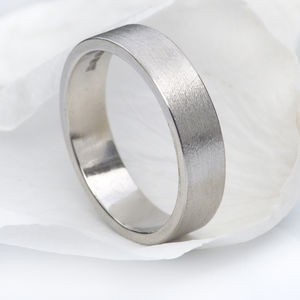5mm Flat Wedding Ring, Platinum - rings