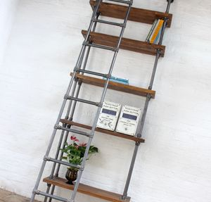 Brooklyn Handmade Reclaimed Scaffolding Boards Bookcase - bookcases