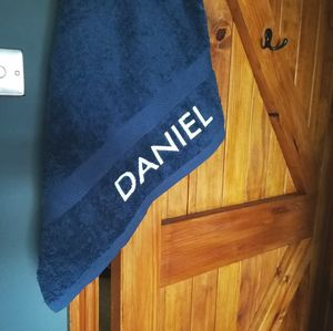Personalised Egyptian Cotton Towel