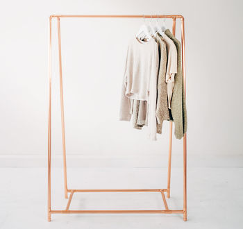 Copper Pipe A Frame Clothing Rail