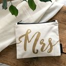 'Mrs' Wedding Make Up Bag