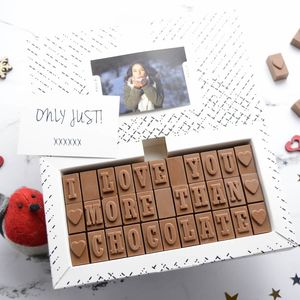 'I Love You More Than Chocolate' Message - just because gifts