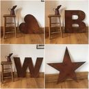 Big Rusty Metal Letters Lettering Numbers Symbols Sign