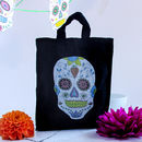 Personalised Halloween Sugar Skull Treat Bag
