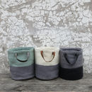 Bela Felt Laundry Shopper Bucket Bag