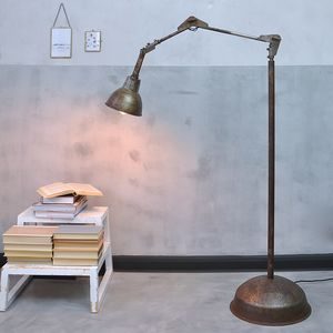 Industrial Angle Poise Floor Lamp - bedroom