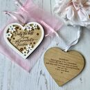 Promoted To Nanny Mothers Hanging Heart Gift