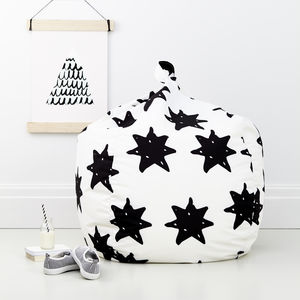 Children's Monochrome Bean Bag Stars - furniture
