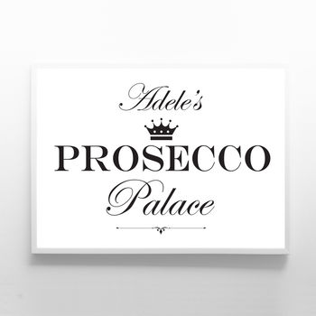 Personalised Prosecco Palace Print Sign