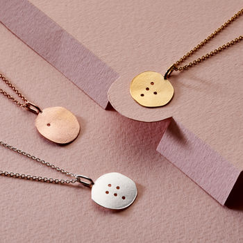 Personalised Debossed Braille Disc Necklace