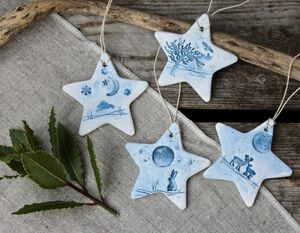 Woodland Wildlife Ceramic Stars