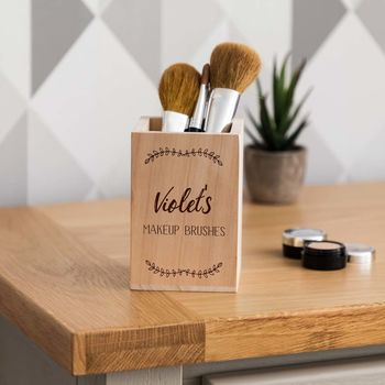 Personalised Makeup Brush Pot