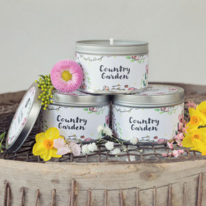 Daisy And Dot Country Garden Tin Candle