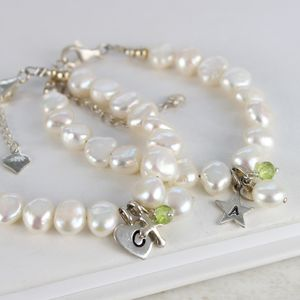 Pearl And Birthstone Christening Bracelet - children's accessories