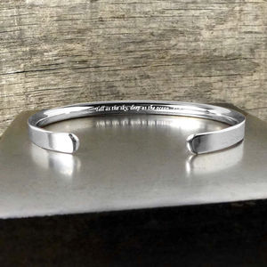 Silver Personalised Men's Bracelet - winter sale