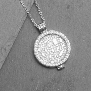Pave Locket Necklace Gift For Her