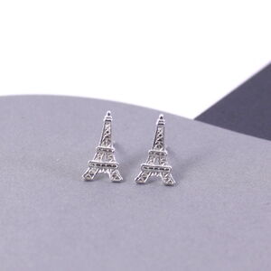 Paris Eiffel Tower Earrings In Sterling Silver